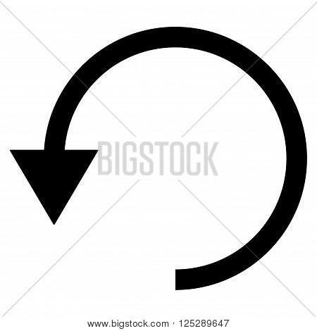 Rotate Ccw vector icon. Rotate Ccw icon symbol. Rotate Ccw icon image. Rotate Ccw icon picture. Rotate Ccw pictogram. Flat black rotate ccw icon. Isolated rotate ccw icon graphic.