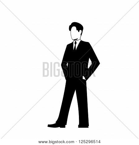 This is the illustration of businessman silhouette