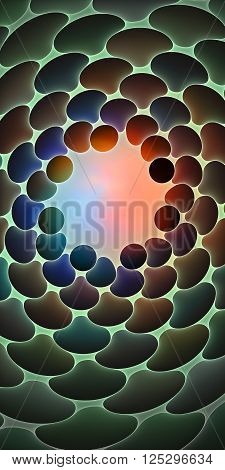Fractal white background with abstract net shapes. High detailed image.