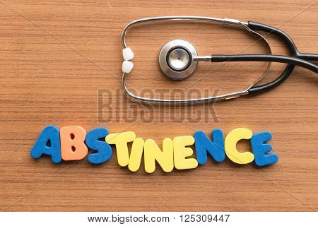 Abstinence Medical Word