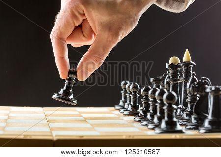 Man playing chess