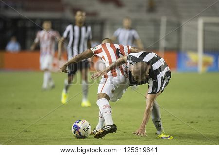 Rio de Janeiro Brasil - April 09 2016: Octavio and Guilherme player in match between Vasco da Gama and Madureira by the Carioca championship in the S ** Note: Visible grain at 100%, best at smaller sizes