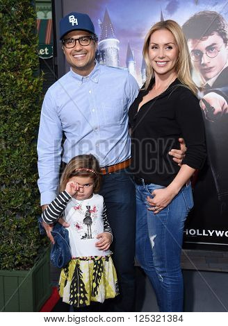 LOS ANGELES - APR 05:  Jaime Camil & Heidi Balvanera arrives to the Wizarding World of Harry Potter Opening  on April 05, 2016 in Hollywood, CA.