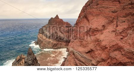 Volcanic mountains in Atlantic Ocean, Portugal