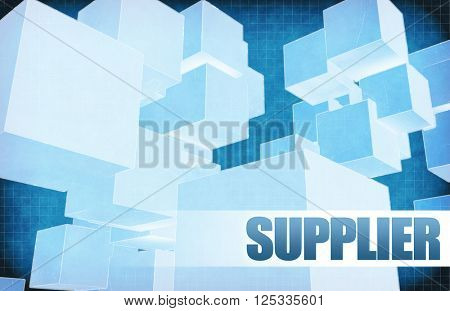 Supplier on Futuristic Abstract for Presentation Slide