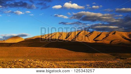 Middle Atlas Mountains, Africa - sunset light