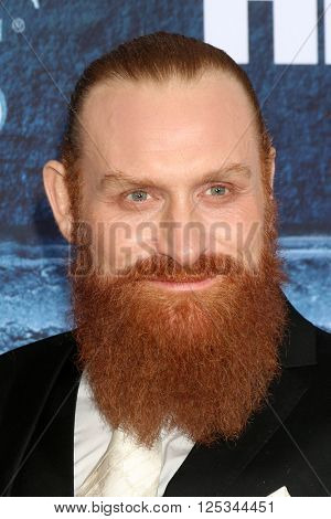 LOS ANGELES - APR 10:  Kristofer Hivju at the Game of Thrones Season 6 Premiere Screening at the TCL Chinese Theater IMAX on April 10, 2016 in Los Angeles, CA