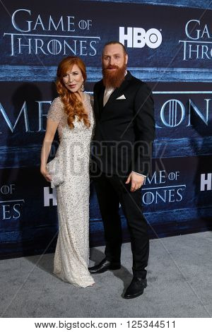 LOS ANGELES - APR 10:  Gry Molvaer, Kristofer Hivju at the Game of Thrones Season 6 Premiere Screening at the TCL Chinese Theater IMAX on April 10, 2016 in Los Angeles, CA
