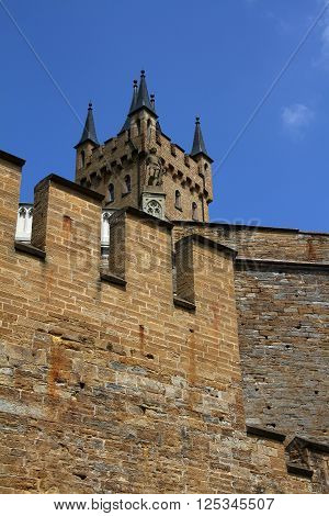 Medieval Fortress, Hohenzollern Castle, Black Forest, Stuttgart, Germany