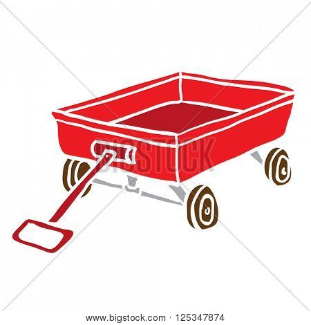 child's toy cart cartoon