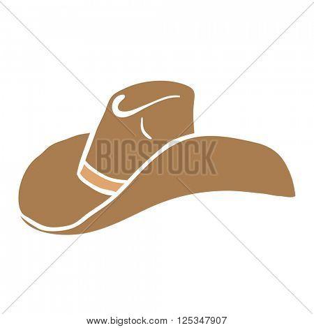 cowboy hat cartoon illustration