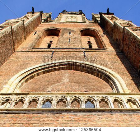 New Church (Nieuwe Kerk) from 1381 in the city of Delft. The Netherlands