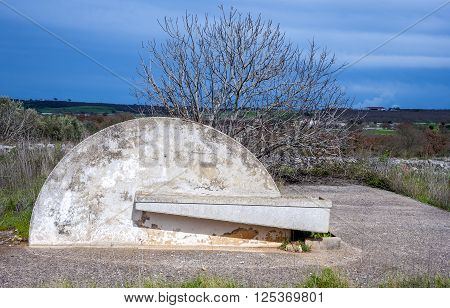 water trough of a consortium of drainage in the Apulia countryside