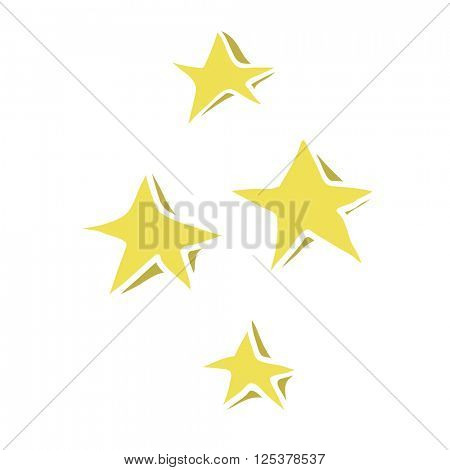freehand drawn cartoon decorative stars doodle illustration
