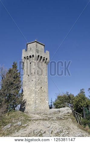 The third tower of Mount Titan in San Marino