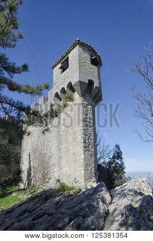 La Cesta tower of Mount Titan in San Marino