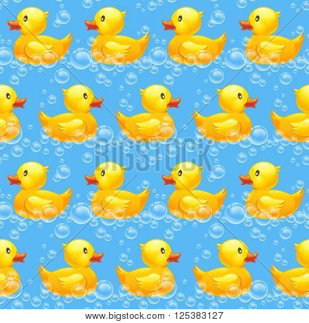 rubber duck seamless pattern 10eps