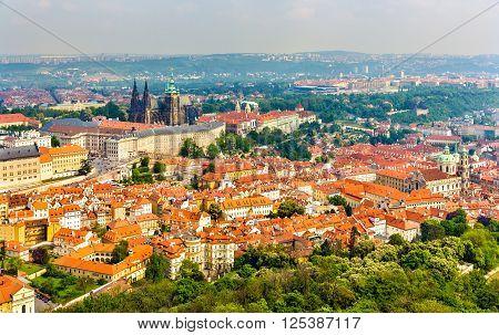 View of Prazsky hrad castle - Czech republic
