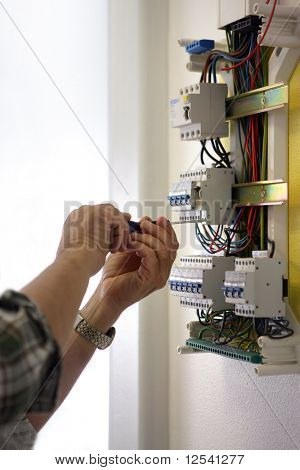 Connections of an electric meter