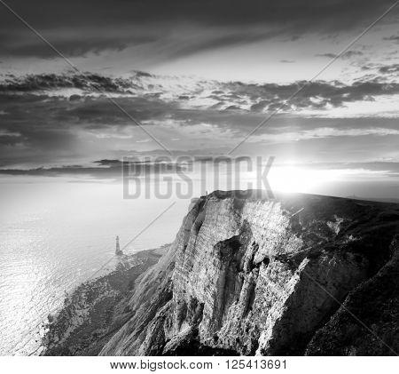 Alone on cliffs