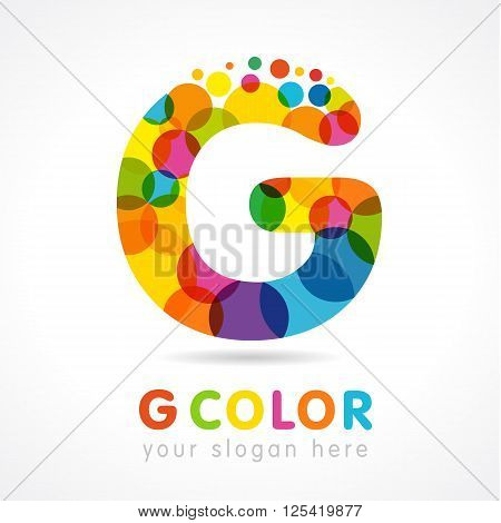 G colored logo. Government business
