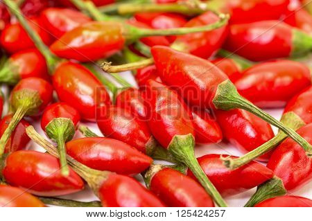 Heap Of Ripe Red Peppers Piri-piri