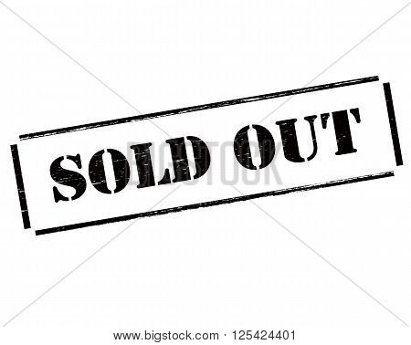 Rubber stamp with text sold out inside vector illustration