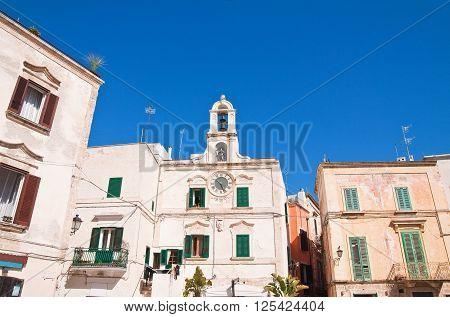 Clocktower of Polignano a mare. Puglia. Italy