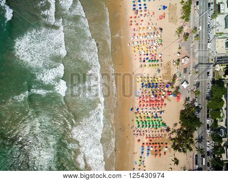 Top View of a Beach, Recife, Pernambuco, Brazil