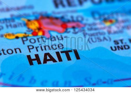 Haiti Caribbean Island On The Map
