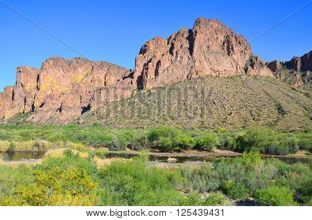 Tonto National Monument is a National Monument in the Superstition Mountains, in Gila County of central Arizona. The area lies on the northeastern edge of the Sonoran Desert ecoregion, an arid habitat poster