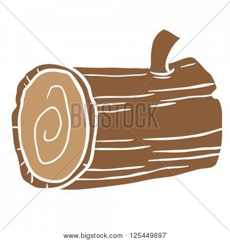wood log cartoon illustration