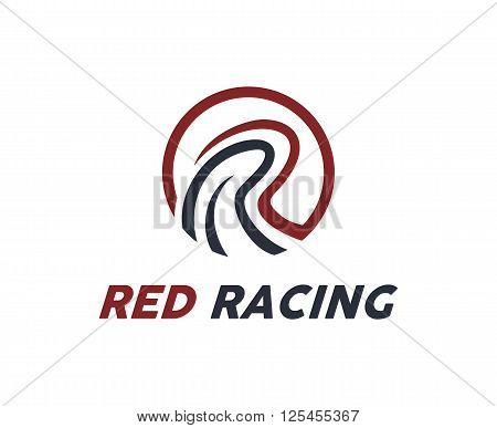 Letter R logo design vector. Letter R symbol vector in two colors . Simple modern clean letter R logo template.