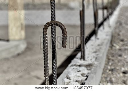 Steel Rebar In Cement