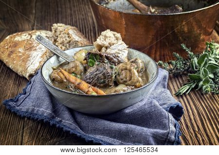 Boeuf Bourguignon in Bowl
