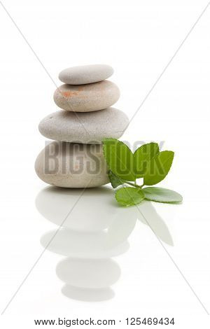 Balancing Zen Stones Isolated