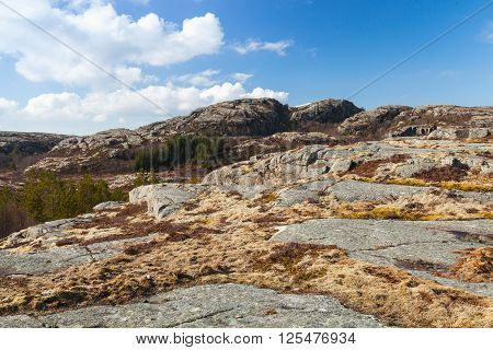 Mountain Landscape With Rocks, Norway