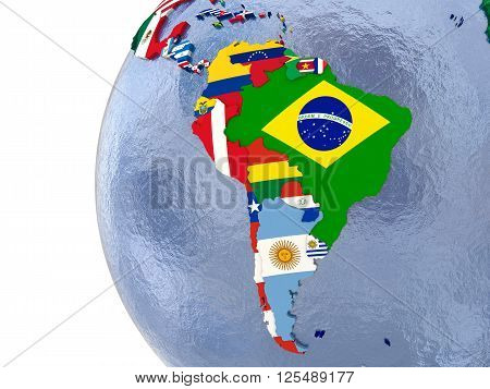 Political South America Map
