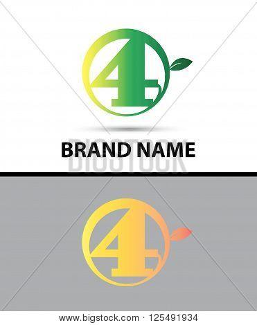 Leaf icon Logo Letter A design template