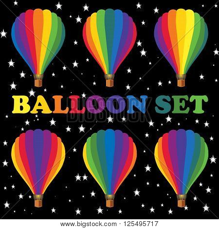 Balloons for design publications devoted to aeronautics and air fiesta.