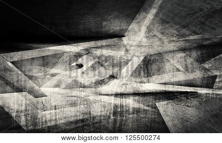 Abstract Dark Chaotic Pattern Background