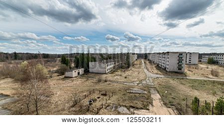 Abandoned Ruins Of Military Settlement