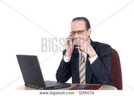 Businessman Enjoying A Cigaret