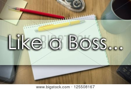 Like A Boss... -  Business Concept With Text