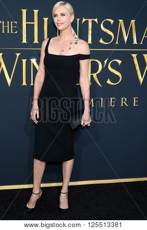 LOS ANGELES - APR 11:  Charlize Theron at the The Huntsman Winter's War American Premiere at the Village Theater on April 11, 2016 in Westwood, CA