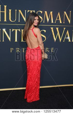 LOS ANGELES - APR 11:  Danielle Vasinova at the The Huntsman Winter's War American Premiere at the Village Theater on April 11, 2016 in Westwood, CA