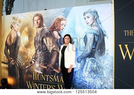 LOS ANGELES - APR 11:  Colleen Atwood at the The Huntsman Winter's War American Premiere at the Village Theater on April 11, 2016 in Westwood, CA