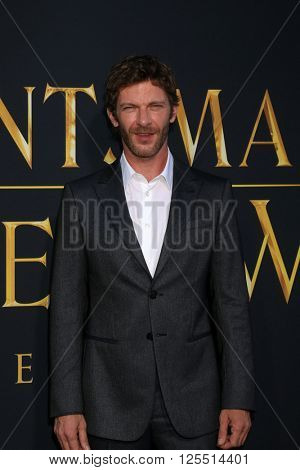 LOS ANGELES - APR 11:  Sam Hazeldine at the The Huntsman Winter's War American Premiere at the Village Theater on April 11, 2016 in Westwood, CA