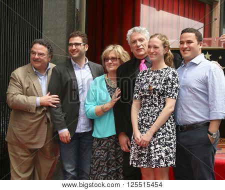 LOS ANGELES - APR 11:  Harvey Fierstein, family at the Harvey Fierstein and Cyndi Lauper Hollywood Walk of Fame Ceremony at the Pantages Theater on April 11, 2016 in Los Angeles, CA