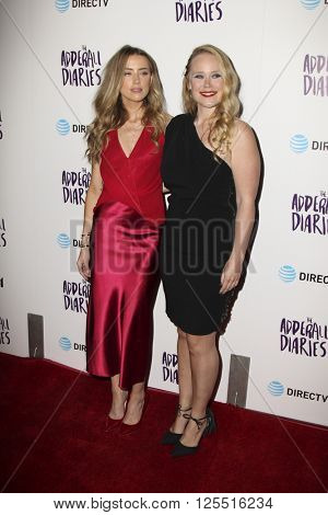 LOS ANGELES - APR 12:  Amber Heard, Pamela Romanowsky at the The Adderall Diaires Premiere Screening of A24/DIRECTV Series at the ArcLight Hollywood on April 12, 2016 in Los Angeles, CA